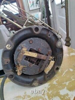 Antique General Electric Eventail Oscillant 12 Étoiles 6 Lames En Laiton Et Garde 78777