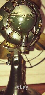 Antique General Electric Fan Ge Whiz Vintage 9 Brass Blade Works Unrestored Fpr