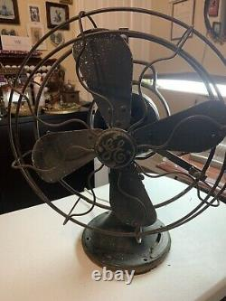 Antique General Electric Form Ani Cat 75423 3 Ventilateur De Bureau D'oscillation De Vitesse