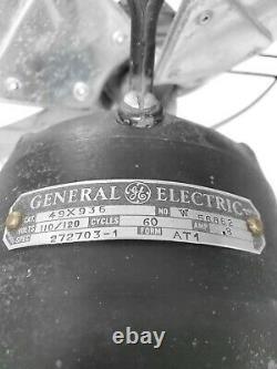 Antique General Electric Large Art Deco Vortalex Eventail Oscillant Lame De 16 Pouces