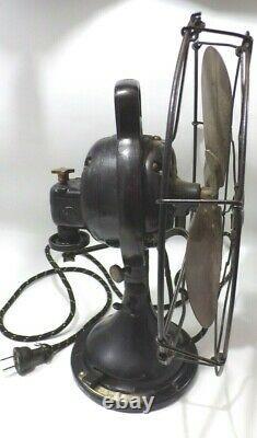 Antique Original Ge General Electric Bell Oscillateur Ventilateur Fonte Et Laiton