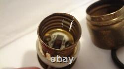 Antique Socket Edison General Électrique Langue Mobile Circa 1890 Porcelaine