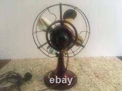 Antique Vintage Ge General Electric Début Des Années 1920 Ventilateur Oscillant Continu