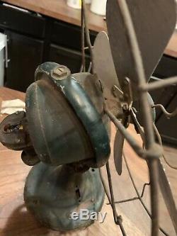 Antique Vintage General Electric Ge Brass Lame De Ventilateur Travaux Utilisés 1920