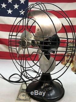 Antique Vintage General Electric Permanent Fan Aa100830 60 Cycle