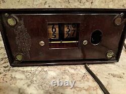 Art Deco General Electric Telechron Flip Clock 8b11 Bakelite Works Unrestored