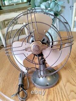 Électrique Général 9 Ventilateur D'oscillation Vortalex #fm9v1 Vers 1946-1948 Fonctionne Super