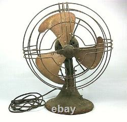 Eventail D'oscillation Électrique Général 1930's Art Deco Vortalex Lame, 10 Pouces-2 Speed