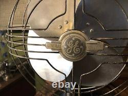 Eventail Électrique Général Vintage Oscillant Ge Art Deco Eventail 12 Lames 17 H