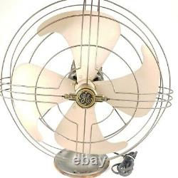 Eventail General Electric Ge Vintage Industriel Art Deco Electric 3 Speed Oscillant