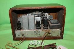 Ge 1937 Old Vintage Bois Cabinet Am General Electric Sw Tube Radio Modèle E52