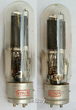 General Electric Jan-cg-211 Vt-4-c Triode Tube Paire Vintage C