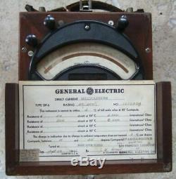 General Electric Vintage 1942 Millivoltmètre Dp2 Rare Test Equipment Steam Punk