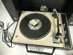 General Electric Wildcat Vintage Ge Turntable Portable Record Player Fabriqué Aux États-unis