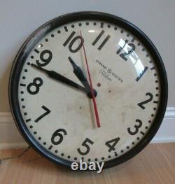 Grande École House Clock Vintage Années 1950 General Electric Telechron Horloge 1ha1612