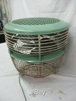 Green Vintage General Electric Hassock Étage Tableau 3 Vitesse Double Pales Du Ventilateur F14f3