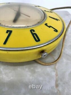 Horloge De Cuisine Rétro Générale Rétro Modèle Jaune 2h26