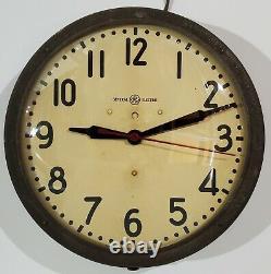 Horloge Murale De L'école Électrique Générale Ge Vintage 14.5 Médecine Industrielle 1h 1412