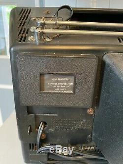 Iconic Vtg Ge 1980 General Electric 10 Crt Couleur Tv Rétro Travail Tabletop