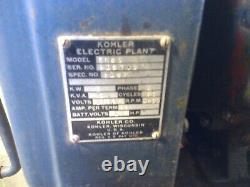 Kohler Générateur De Centrale Électrique Antique Millésime Utilisé