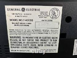 Nos Ge General Electric Fm/am Digital Flip Clock Alarme Radio Livraison Gratuite