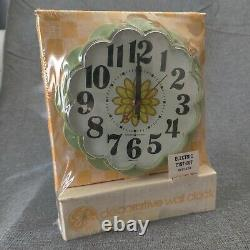 Nouveau Nos Vintage General Electric Ge Horloge Murale De Cuisine Flower #2197 Avacado
