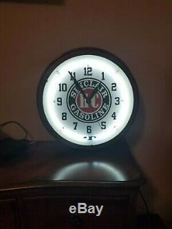 Orig Art Déco Vintage Sinclair Enseignes Lumineuses Horloge W @ W