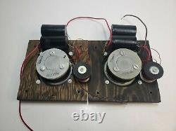 Paire Vintage Ampex Bullet Tweeters Haut-parleurs Paire General Electric G-504 Ge