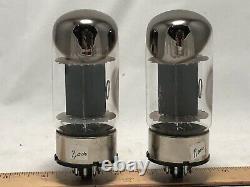 Paire Vintage General Electric 6550a Tubes De Puissance De Base En Métal