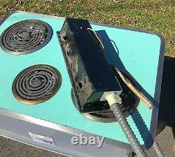 Poêle Ge General Electric Turquoise/aqua Blue Cooktop Vintage 1950's MCM