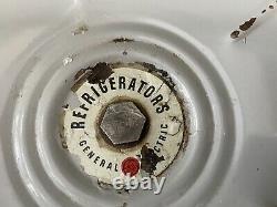 Rare 1930 General Electric G E Réfrigérateur Jars Lazy Susan Jaune Excellent