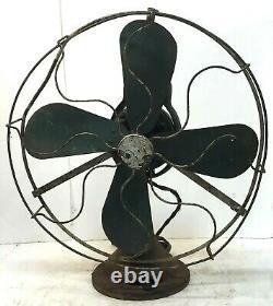 Rare Antique General Electric Ge Type Aou 16 4 Bureau D'oscillation De La Lame Fonctions D'éventail