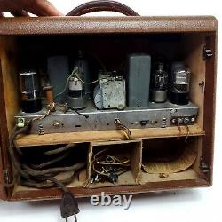 Rare Vintage Ge General Electric Tube Radio Portable Lb-673 Beamascope Antenne