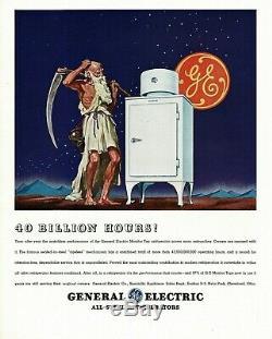 Travail Vintage General Electric Type De Moniteur Ck-1-b16 Réfrigérateur