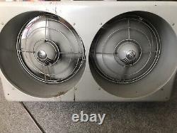 Ventilateur D'éventail De Boîte Pivotante General Electric Twin De Vintage 1950 Avec Contrôle Thermo