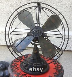 Ventilateur De Bureau Électrique Anglais Antique/ G. E. C. / 3 Vitesses/ Balayage De 12 Pouces