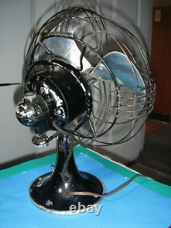 Ventilateur Électrique Général Vintage Vortalex Oscillant Ge Art Deco