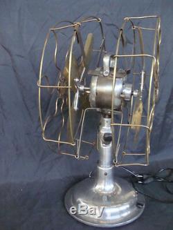 Ventilatore General Electric Doppia Pala Vintage Epoca Old Double Fan Italie