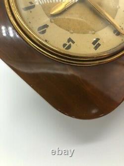Vieille Horloge Electric General Bakelite #3h96 Travaillant À Mi-century Ge