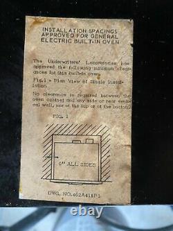 Vieux Four À Mur Électrique Général