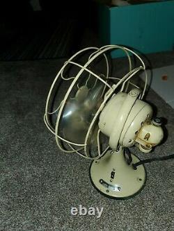 Vintage 10 Ge General Electric Oscillating Desk Fan 100% Testé Fonctionne Très Bien