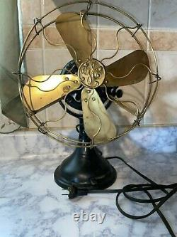 Vintage 1901 Ge General Electric Fan 738987 110 Volts