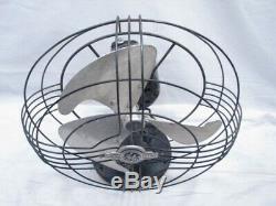 Vintage 1940 General Electric Ge Vortalex Art Déco Fan 10 Oscillant