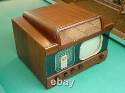 Vintage 1940's Ge, General Electric Model 803, 10 Channel 1 Tv Avec Am-fm Radio