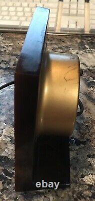 Vintage 1940s General Electric Bakelite Horloge #3h178 Ne Travaillant Pas À Mi-century Ge