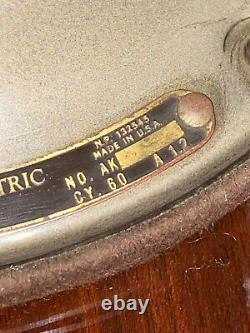 Vintage 1940s General Electric Fm12v1 Grand Ventilateur Industriel Oscillant Vortalex