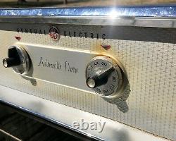 Vintage 1950 Ge General Electric Oven Turquoise/aqua Blue MCM Intégré