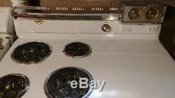 Vintage 1954 Blanc Ge Four Électrique En Bon État