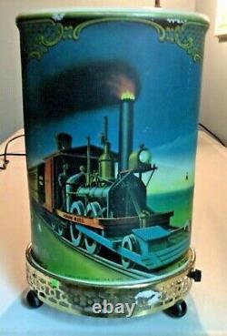 Vintage 1956 Econolite Corp Litho Le General & John Bull Lampe De Mouvement Du Train