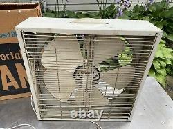 Vintage 1960's General Electric 20 Box Fan Travail Du Métal W25 1970